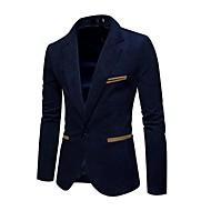 Herre Ensfarvet Plusstørrelser-Blazer / Vælg venligst én størrelse over din normale størrelse. / Langærmet
