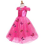เจ้าหญิง Cinderella เครื่องแต่งกายในเทพนิยาย หนึ่งชิ้น ชุดเดรส Party Costume สำหรับเด็ก Ball Gown Slip ตาข่าย วันเกิด วันคริสต์มาส วันฮาโลวีน เสื้อผ้าที่สวมไปงานเต้นรำสวมหน้ากาก Festival / Holiday