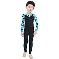 hesapli Blue Dive®-Bluedive Çocuklar için Streç Dalış Elbisesi Sıcak Tutma Hızlı Kuruma Ultravioleye Karşı Dayanıklı Ön Fermuar Tam Kaplama Güneş Kremi