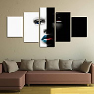 cheap Prints-Rolled Canvas Prints Classic, Five Panels Vertical Panoramic Print Wall Decor Home Decoration