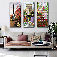 cheap Prints-Stretched Canvas Prints Modern, Three Panels Canvas Vertical Print Wall Decor Home Decoration