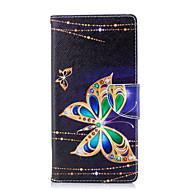 billiga Mobil cases & Skärmskydd-fodral Till Sony Xperia XA2 Ultra / Xperia L2 Plånbok / Korthållare / med stativ Fodral Fjäril Hårt PU läder för Xperia XA2 Ultra / Xperia XA2 / Xperia XZ1 Compact