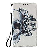 billiga Mobil cases & Skärmskydd-fodral Till Sony Xperia L2 Xperia XZ2 Korthållare Plånbok med stativ Lucka Mönster Fodral Dödskalle Hårt PU läder för Xperia XA2 Xperia