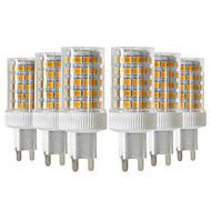 baratos Luzes LED de Dois Pinos-YWXLIGHT® 6pcs 10W 900-1000lm G9 Luminárias de LED  Duplo-Pin T 86 Contas LED SMD 2835 Regulável Branco Quente Branco Frio Branco Natural