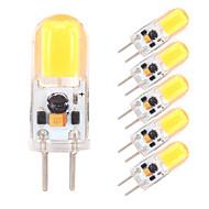 billige Bi-pin lamper med LED-6pcs 2W 350-380lm G4 GY6.35 LED-lamper med G-sokkel 1 LED perler COB Mulighet for demping Varm hvit Kjølig hvit 12V