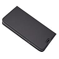 billiga Mobil cases & Skärmskydd-fodral Till LG Q6 Korthållare med stativ Fodral Ensfärgat Hårt PU läder för LG Q6