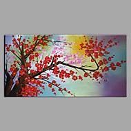 baratos -Pintura a Óleo Pintados à mão - Paisagem Floral / Botânico Contemprâneo Modern Tela de pintura