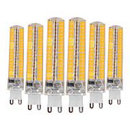 billige Bi-pin lamper med LED-YWXLIGHT® 6pcs 10W 900-1000 lm G9 LED-lamper med G-sokkel T 136 leds SMD 5730 Mulighet for demping Dekorativ Varm hvit Kjølig hvit AC