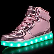 baratos Sapatos de Menino-Para Meninos / Para Meninas Sapatos Couro Ecológico Primavera Conforto / Tênis com LED Tênis Caminhada Cadarço / Colchete / LED para
