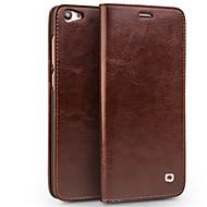 billiga Mobil cases & Skärmskydd-fodral Till Vivo X7 Plus X7 Korthållare Plånbok Stötsäker Lucka Fodral Ensfärgat Hårt Äkta Läder för Vivo X7 Plus
