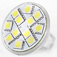 billige Bi-pin lamper med LED-SENCART 1pc 5W 160 lm MR11 LED-lamper med G-sokkel MR11 12 leds SMD 5060 Dekorativ Varm hvit Hvit 12V