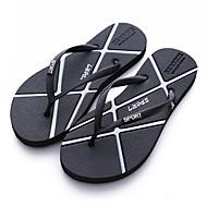 tanie Obuwie męskie-Męskie Komfortowe buty Syntetyczny Lato Klapki i japonki Złoty / Czarny / Srebrny