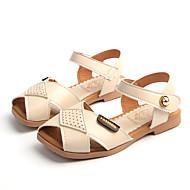 baratos Sapatos de Menina-Para Meninas Sapatos Couro / Couro Ecológico Verão Conforto Sandálias Velcro para Bege / Vermelho / Rosa claro