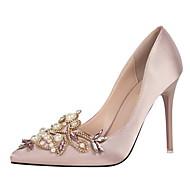 Žene Cipele Likra Proljeće Ljeto Obične salonke Udobne cipele Cipele na petu Stiletto potpetica Zatvorena Toe Krakova Toe Štras Umjetni