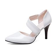 baratos Sapatos Femininos-Mulheres Sapatos Couro Envernizado / Couro Ecológico Primavera / Verão Plataforma Básica Saltos Salto Agulha Dedo Apontado Branco / Preto