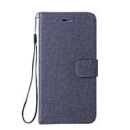 billiga Mobil cases & Skärmskydd-fodral Till LG G6 Korthållare Plånbok med stativ Lucka Fodral Ensfärgat Hårt PU läder för LG Nexus 5X LG G6 LG G5