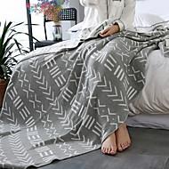 billiga Filtar och plädar-Stickat, Jacquard Geometrisk Cotton filtar