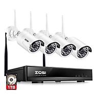 hesapli NVR Kitleri-Zosi® 4ch 1080 p hdmi wifi nvr 2.0mp güvenlik sistemi ir açık su geçirmez cctv kamera kablosuz gözetleme sistemi