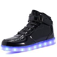 tanie Obuwie chłopięce-Dla chłopców / Dla dziewczynek Obuwie Materiał do wyboru / Derma / PU Jesień Wygoda / Świecące buty Adidasy Spacery Sznurowane / Haczyk i pętelka / LED na Srebrny / Niebieski / Różowy
