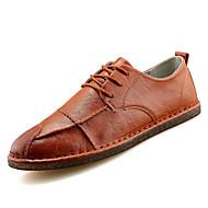 お買い得  メンズオックスフォードシューズ-男性用 靴 PUレザー 春 / 冬 コンフォートシューズ オックスフォードシューズ ブラック / オレンジ / Brown