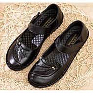 Shoes For Women Fabric Flat Heel Comfort Ballerina Flats Outdoor Office Career Dress Casual Black Brown Red