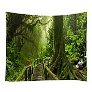 billige Veggdekor-Hage Tema Landskap Veggdekor 100% Polyester Moderne Veggkunst, Veggtepper av