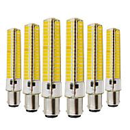 billige Bi-pin lamper med LED-YWXLIGHT® 6pcs 10W 2700-3200/6000-6500 lm BA15d LED-lamper med G-sokkel T 136 leds SMD 5730 Mulighet for demping Dekorativ Varm hvit