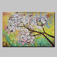 billiga Blom-/växtmålningar-mintura® stor storlek handmålade blommor oljemålning på duk modern abstrakt väggkonst bild för heminredning ingen ram