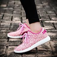 baratos Sapatos Masculinos-Homens Tule Primavera / Verão Conforto Tênis Bege / Vermelho / Rosa claro