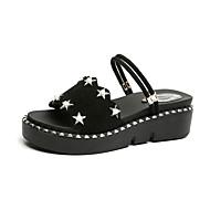 Χαμηλού Κόστους Πέδιλα flat-Γυναικεία Παπούτσια Κασμίρ Καλοκαίρι Ανατομικό Σανδάλια Περπάτημα Χαμηλό τακούνι Στρογγυλή Μύτη Χάντρες Λευκό / Μαύρο / Καφέ