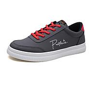 Χαμηλού Κόστους Αντρικά Αθλητικά-Ανδρικά Παπούτσια PU Άνοιξη Φθινόπωρο Χωρίς Τακούνι για Causal Λευκό Μαύρο Γκρίζο