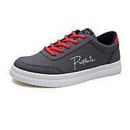 baratos Sapatos Masculinos-Homens sapatos Couro Ecológico Primavera Outono Rasos para Casual Branco Preto Cinzento