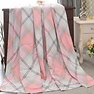 billiga Täcken och överkast-Bekväm Vävt enkelt Vävt enkelt Kviltat 300 Tc Rutig