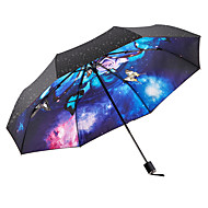 cheap Umbrellas-Fabric Women's Sunny and Rainy / Wind Proof / New Folding Umbrella
