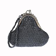 baratos Clutches & Bolsas de Noite-Mulheres Bolsas Poliéster Bolsa de Festa Detalhes em Cristal Cinzento / Roxo / Cinzento Verde