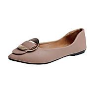 baratos Sapatos Femininos-Mulheres Tecido Outono Conforto Rasos Sem Salto Dedo Apontado Rosa Choque / Bege / Castanho Claro
