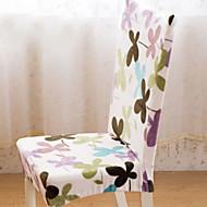 billige Overtrekk-Moderne 100% Polyester Mønstret Stoltrekk, Enkel Planter Trykket slipcovere