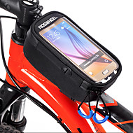 ROSWHEEL Torba za bicikl Bike Frame Bag Mobitel Bag Anti-Slip Vodootporni patent Torba za bicikl Poliester ispis Torbe za biciklizam