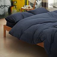 tanie Solid Duvet Okładki-Zestawy kołdra okładka Jendolity kolor 3 elementy Poly / Cotton 100% bawełna Reactive Drukuj Poly / Cotton 100% bawełna 1szt kołdrę 1szt