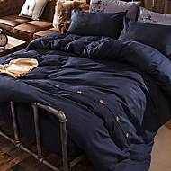 billiga Påslakan-Påslakan Sets Enfärgad Polyester / Bomull Blandning Färgat garn 3 delar