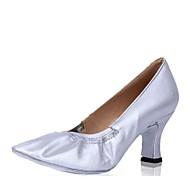 billige Moderne sko-Dame Moderne sko Griseskinn Høye hæler Tykk hæl Kan spesialtilpasses Dansesko Gull / Sølv / Profesjonell