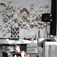 preiswerte Wandgemälde-Blumen Art Deco 3D Haus Dekoration Klassisch Modern Wandverkleidung, Segeltuch Stoff Klebstoff erforderlich Wandgemälde,