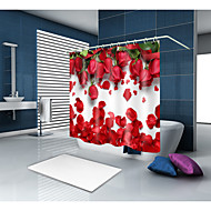 cheap Shower Curtains-Shower Curtains & Hooks Modern Polyester Novelty Machine Made Waterproof