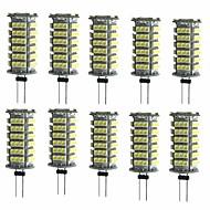 baratos Luzes LED de Dois Pinos-10pçs 2W 200lm G4 Luminárias de LED  Duplo-Pin T 1 Contas LED SMD 3528 Decorativa Branco Quente Branco Frio 12V
