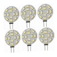 billige Bi-pin lamper med LED-SENCART 6pcs 5W 360 lm G4 LED-lamper med G-sokkel T 12 leds SMD 5730 Dekorativ Varm hvit Kjølig hvit 12-24V
