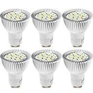 billige Spotlys med LED-YouOKLight 6pcs 6W 500lm GU10 LED-spotpærer 15 LED perler SMD 5730 Dekorativ Varm hvit Kjølig hvit 85-265V