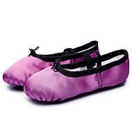 billige Ballettsko-Dame Ballettsko Silke Flate Flat hæl Kan spesialtilpasses Dansesko Lilla / Blå / Trening