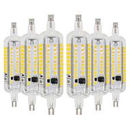 billige Kornpærer med LED-YWXLIGHT® 6pcs 6W 500-600lm R7S LED-kornpærer 60 LED perler SMD 2835 Varm hvit Kjølig hvit 110-130V 220-240V