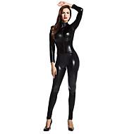 Zentai Dragt Catsuit Huddrag Ninja Spandex Heldragt Cosplay Kostumer Sort Ensfarvet Zentai Spandex Lim Herre Dame Halloween Maskerade