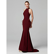 cheap Prom Dresses-Mermaid / Trumpet High Neck Sweep / Brush Train Spandex Cocktail Party / Formal Evening / Black Tie Gala / Holiday Dress with Bandage by
